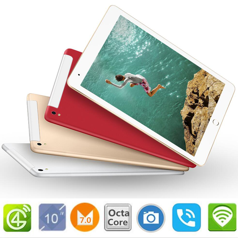 10.1 inch official Original 4G LTE Phone Call Google Android 7.0 MT6753 Octa Core IPS Tablet WiFi 4GB+32GB 64GB metal tablet pc
