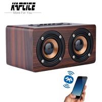 KAPCICE Wooden Wireless Bluetooth Speaker Portable HiFi Shock Bass Altavoz TF caixa de som Soundbar for iPhone Sumsung Xiaomi