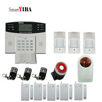 SmartYIBA Wireless Home GSM SMS Security Burglar Alarm Kit System LCD Auto Dialing Call Outdoor Wireless Siren French Spanish