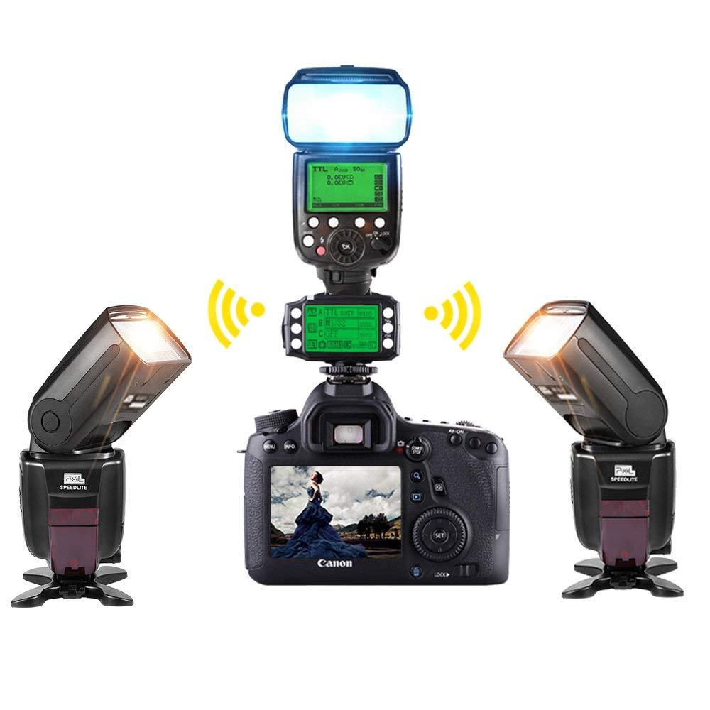 PIXEL King Pro Off-camera bezdrátový blesk Trigger Set Transceiver - Videokamery a fotoaparáty - Fotografie 6