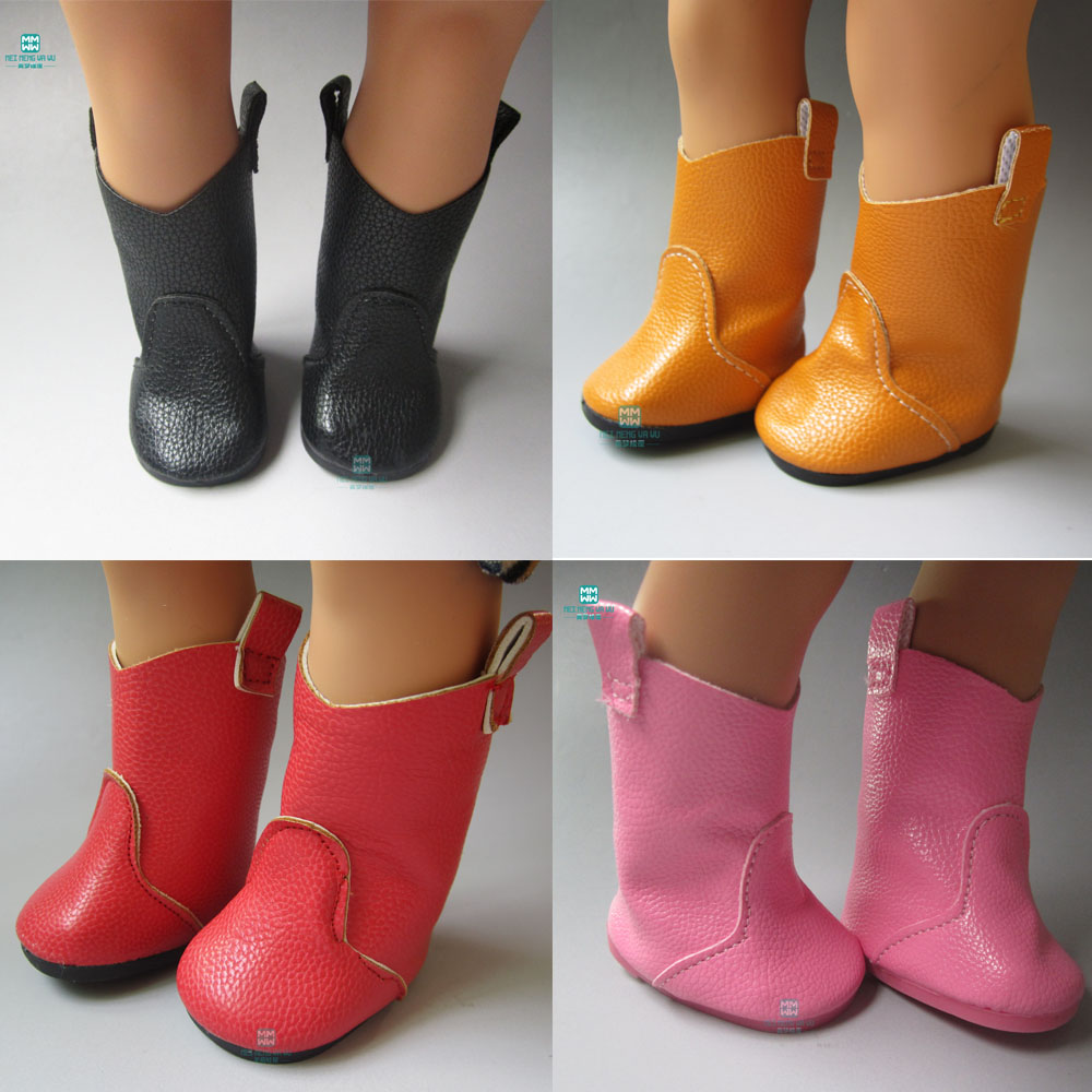 7cm Fashion High straight boots Shoes for dolls American Girls and Zapf baby born doll accessories