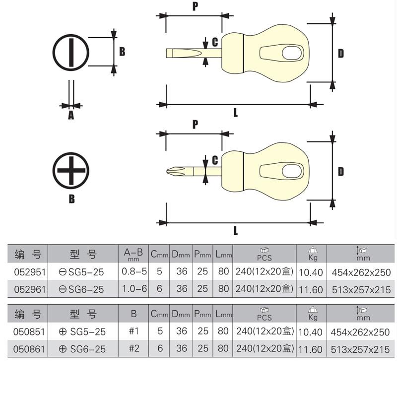 Jetech 2 sztuk / paczka szczelinowa 5 * 25mm 6 * 25mm plilips PH1 PH2 - Narzędzia ręczne - Zdjęcie 3