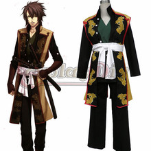 Hakuoki Cosplay Costume Okita Souji Mens Cosplay Outfit Adult Halloween Carvinal Suit Clothing