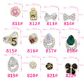 5 pcs Alloy Glass Crystal Rhinestone Bow Tie 3D Nail Art Sticker Tips Glitter