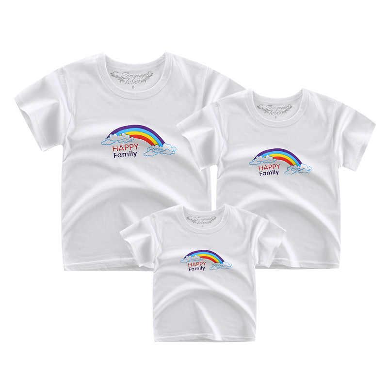 Aile eşleştirme giyim pamuk kısa kollu tişört anne ve bana giysi anne ve kızı T-shirt aile bak