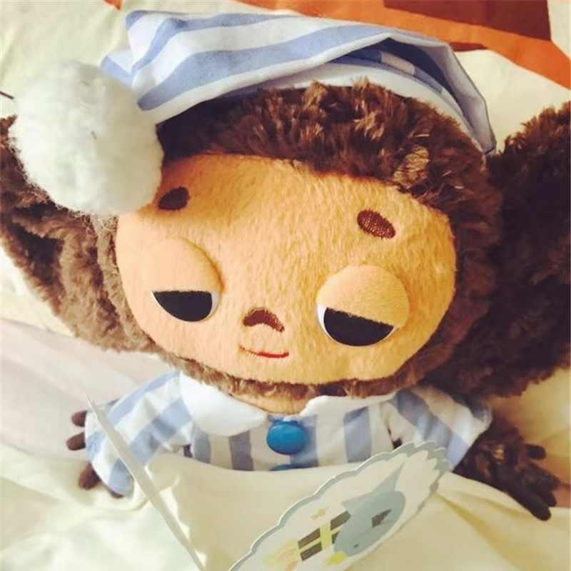Россия Чебурашка большой уха обезьяна плюшевые игрушки для детей большие глаза Длинные Плюшевые Животные обезьяна куклы для мальчиков и девочек подарок C
