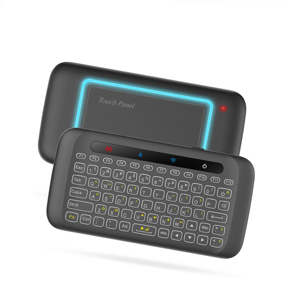557d62b08a9 H20 Mini Wireless Keyboard Backlight Touchpad Air mouse IR Leaning Remote  control For Andorid BOX Smart