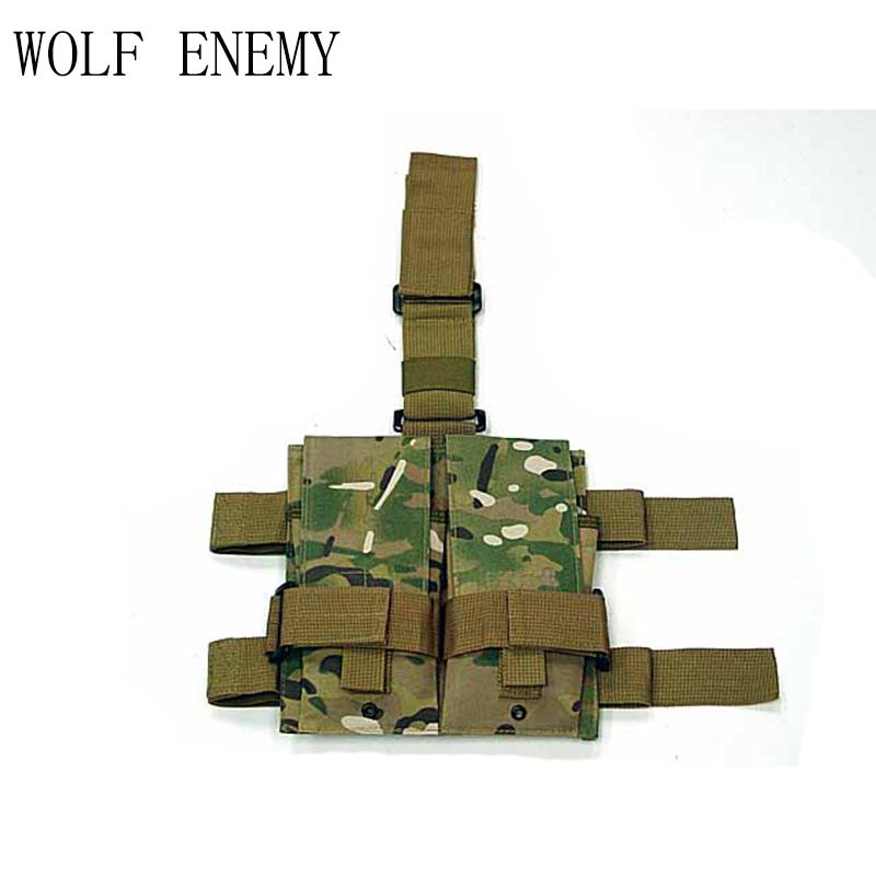 Tactical Molle Double M4 5.56mm Mag Magazine Pouch Bag For Airsoft Paintball Drop Leg Panel Utility Pouch Bag