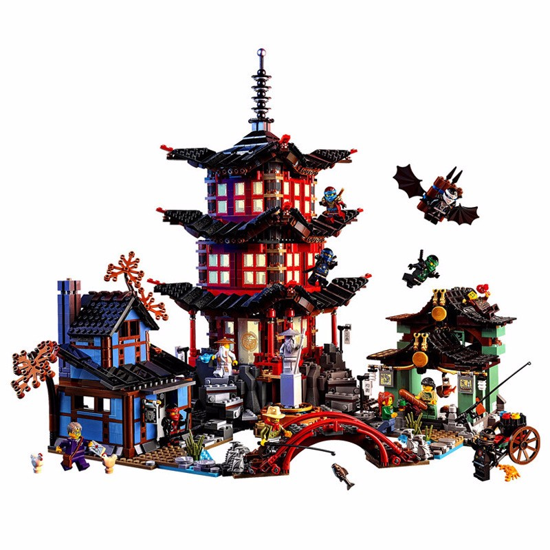 Compatible Ninja 70751 Lepin 06022 blocks Ninja Figure Temple of Airjitzu toys for children building blocks 70603 compatible ninja 70751 lepin 06022 2150pcs blocks ninja figure temple of airjitzu toys for children building bricks 70603 gifts