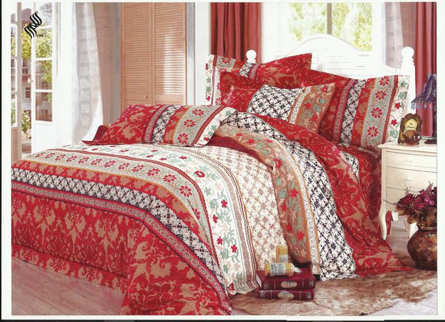 Best Quality Bed Sheet Unique Turkish Style Queen Size 100 Cotton Printed Bedding