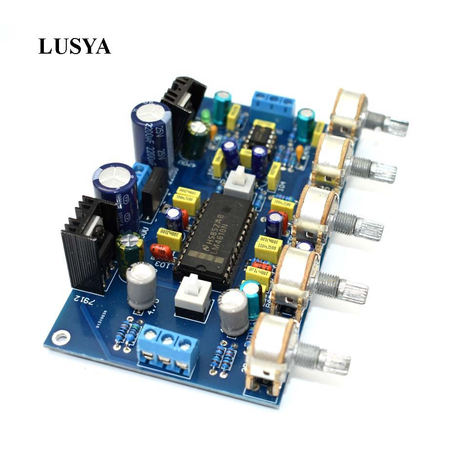 Online Shop Finished Preamplifier Bass Treble Volume Adjust Negative Irs2092 Class D Amplifier Circuit Lm1036 Tone Controlled Power Lusya Diy Audio Digital Board Lm4610 Subwoofer 2 Channels