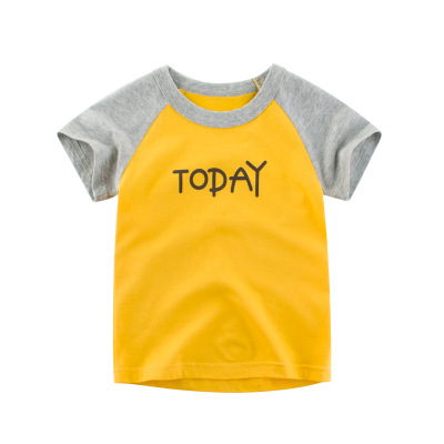 Loozykit/Летняя детская футболка для мальчиков футболки с короткими рукавами и принтом короны для маленьких девочек хлопковая детская футболка футболки с круглым вырезом, одежда для мальчиков - Цвет: Style 9