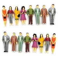 100PCS 1:100/75/150 Resin Building Layout Model People HO Scale Painted Figure Passenger Figurines & Miniatures