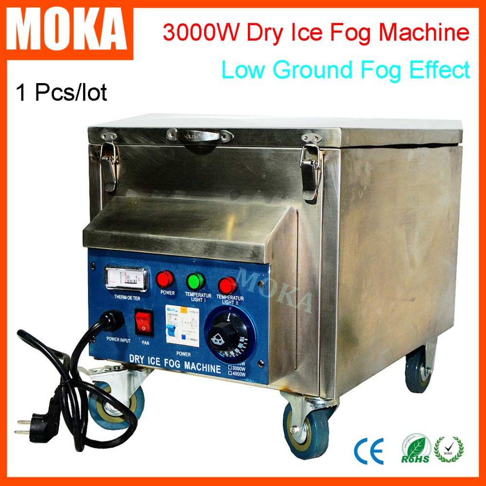 1 Pcs/lot 3000w dry ice fog machine stage effect low ground smoke machine co2 dry ice machine for wedding christmas decorations недорого