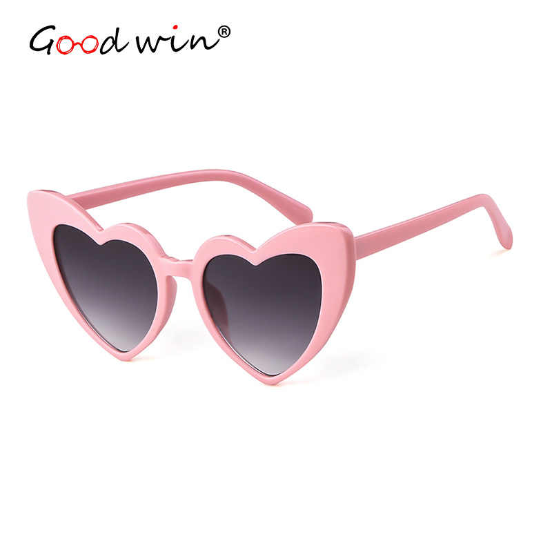 389f2bd4c7 ... Good Win Fashion Vintage Heart Sunglasses Women Love Retro Cat Eye  Sunglasses For Women Black White ...