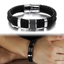Wide Mens weave Chain  Men Bracelet Wristband For Men Classic Bracelet