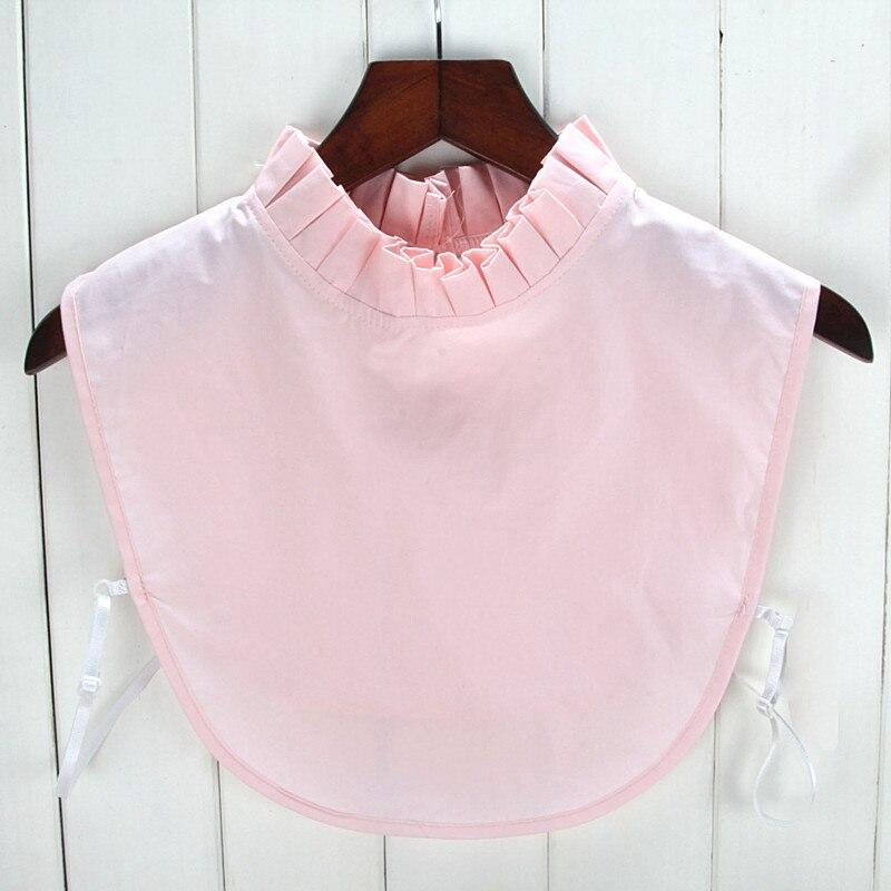 Stand Ruffle False Collar For Women Cotton Nep Kraag Dickey Collars For Sweater Choker Necklace Decro Shirt Lapel Collar Tie