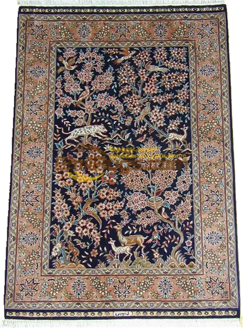 Laine ou soie persan Folk Antique décor pour salon laine tapis tapis Style sud-ouest tapis - 6