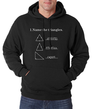 funny Math science men hoodies Name The Triangles Adult for men sweatshirt 2017 spring winter new sudadera hombre brand clothing