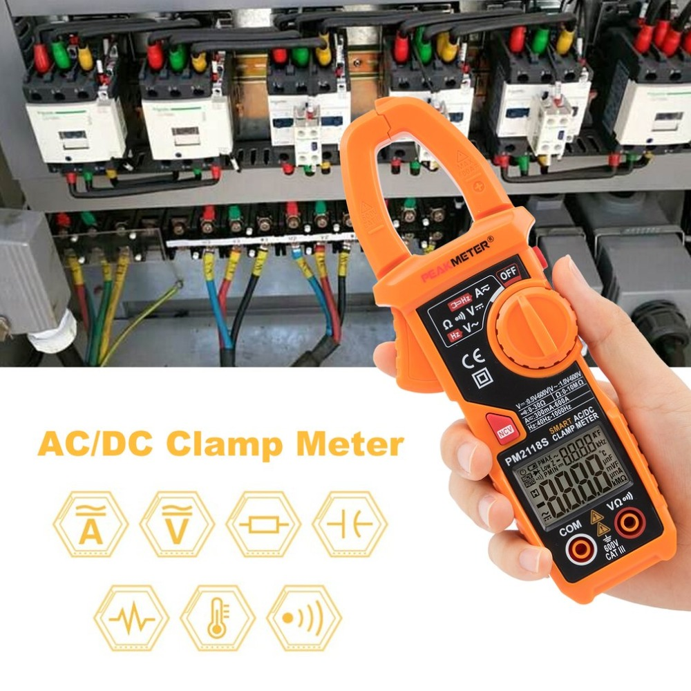 PEAKMETER PM2118S Portable Smart AC/DC Clamp Meter