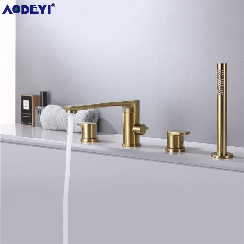 Bath Spout Shower Bathtub Mount Shower set Mixer Valve 2 Function Bathtub Filler Mixer Taps Hot & Cold Bathroom Shower Faucet