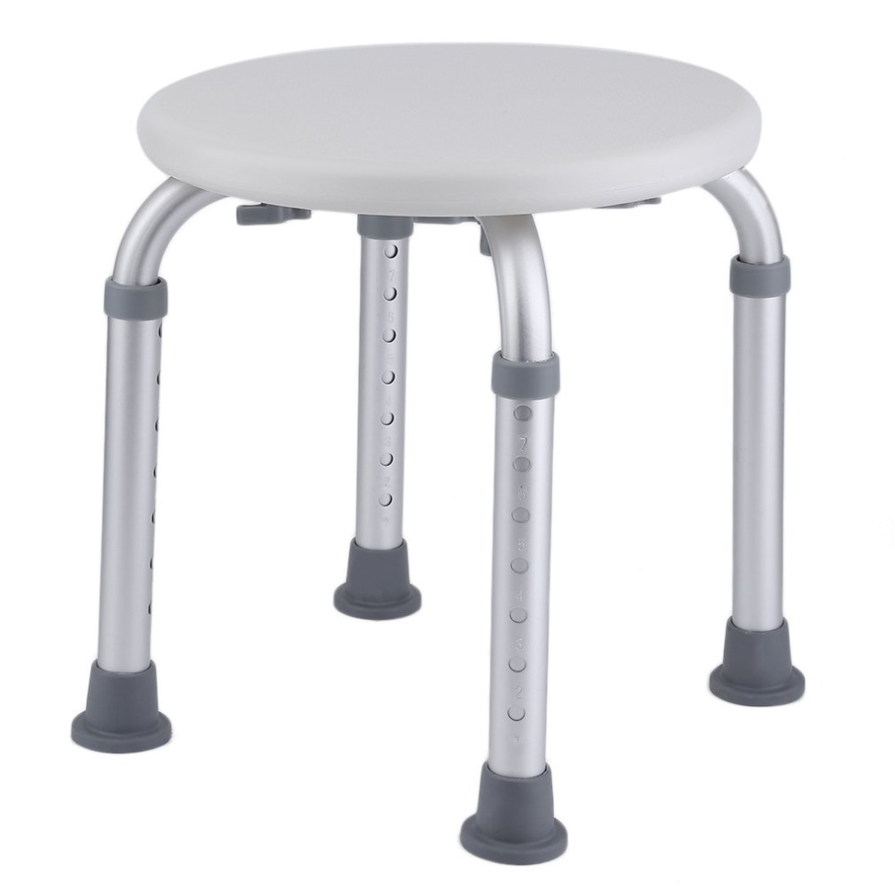Round Height Adjustable Environmental Protecting Bathroom Bathing Shower Chair Bath Stool Bench Seat Home Furniture bathroom solid surface stone stool use for sauna rooms and shower enclosures bathing chair wd114