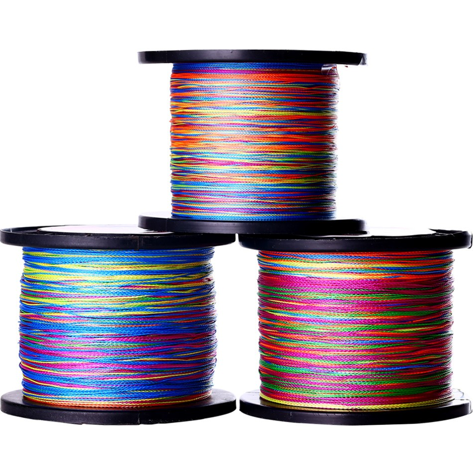 Sougayilang 500M Super Strong 12-72LB 4 Strängar Multifilament PE Material Flätad Wire Fishing Line Multi Color Line Tackle