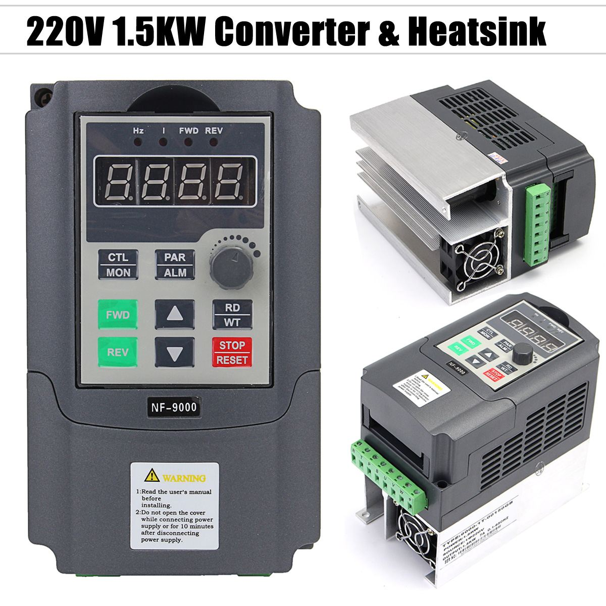 CNC Spindle Motor Speed Control 220V 1.5KW Single Phase input to 220V 3 Phase Output Frequency Converter VFD VSD vector control frequency converter 220v single phase to 220v three phase 220v 0 75kw