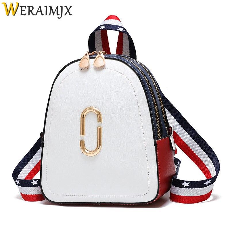 WERAIMJX Backpack Women Mochila Feminina 2019 White Casual School Bags For Teenage Girls Travel Backpacks Female Bagpack MJ185