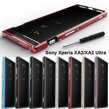 5d9dce5d69c Para Sony Xperia XA2 funda protectora de parachoques de aleación de  aluminio Original para Sony Xperia XA2 Ultra funda marco de .