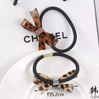 10pcs Lot Korean Leopard Bow Hair Elastic Rope Acrylic Manufacturers Small Circle Hair Accessories For Women
