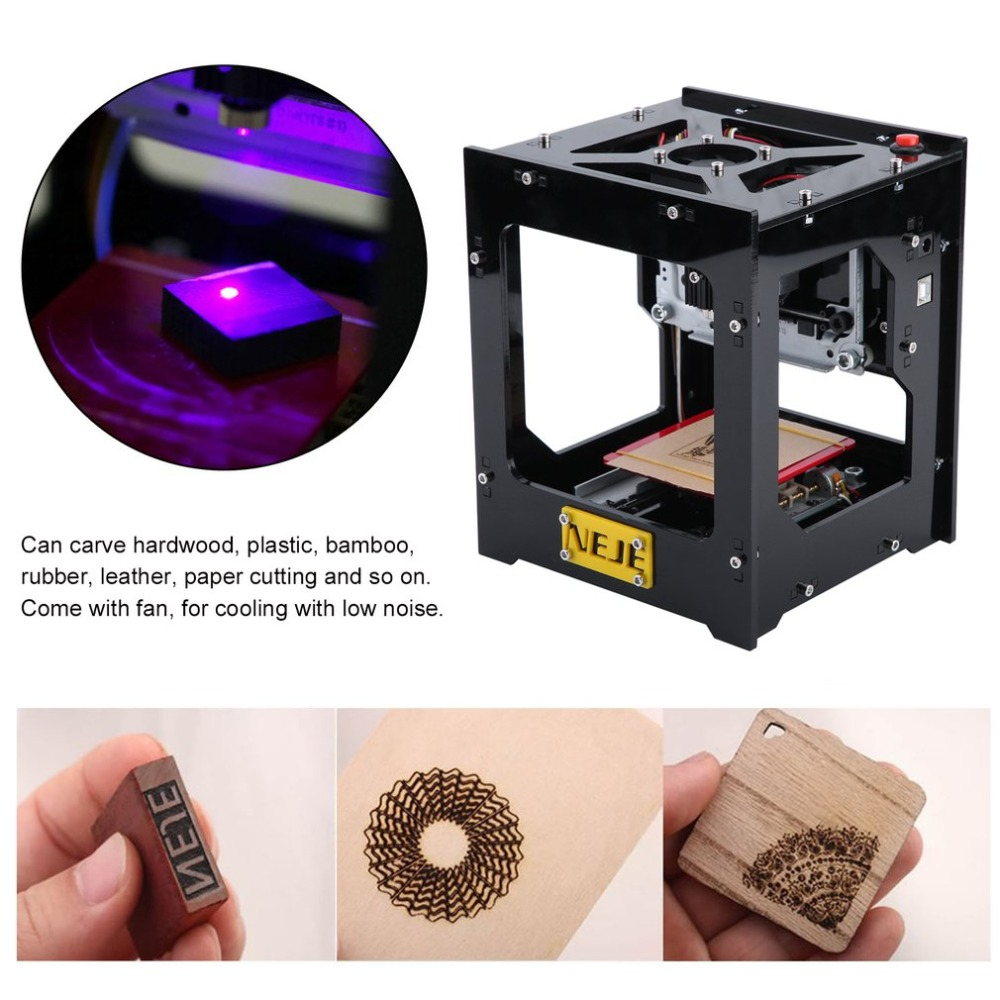 NEJE-DK-8-KZ Mini Laser Engraving Machine With Cooling Fan Portable 1000MW Laser Engraver High Speed Engraving Equipment 1000mw high speed mini laser cutter usb laser engraver cnc router automatic diy engraving machine off line operation glasses