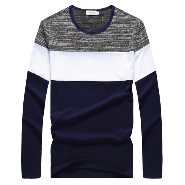 2018 T-Shirt Men Spring Summer New Long Sleeve O-Neck Male T Shirt