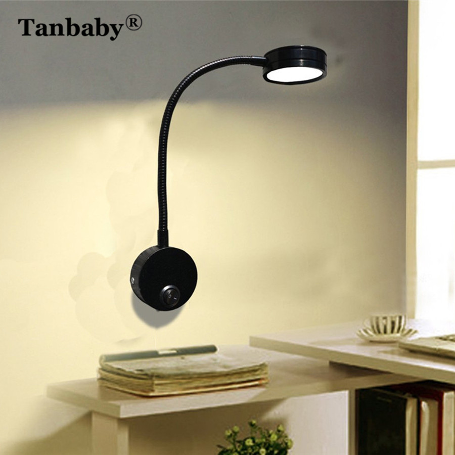 Tanbaby 5W LED Wall Light Fixture With Switch ON/OFF ...