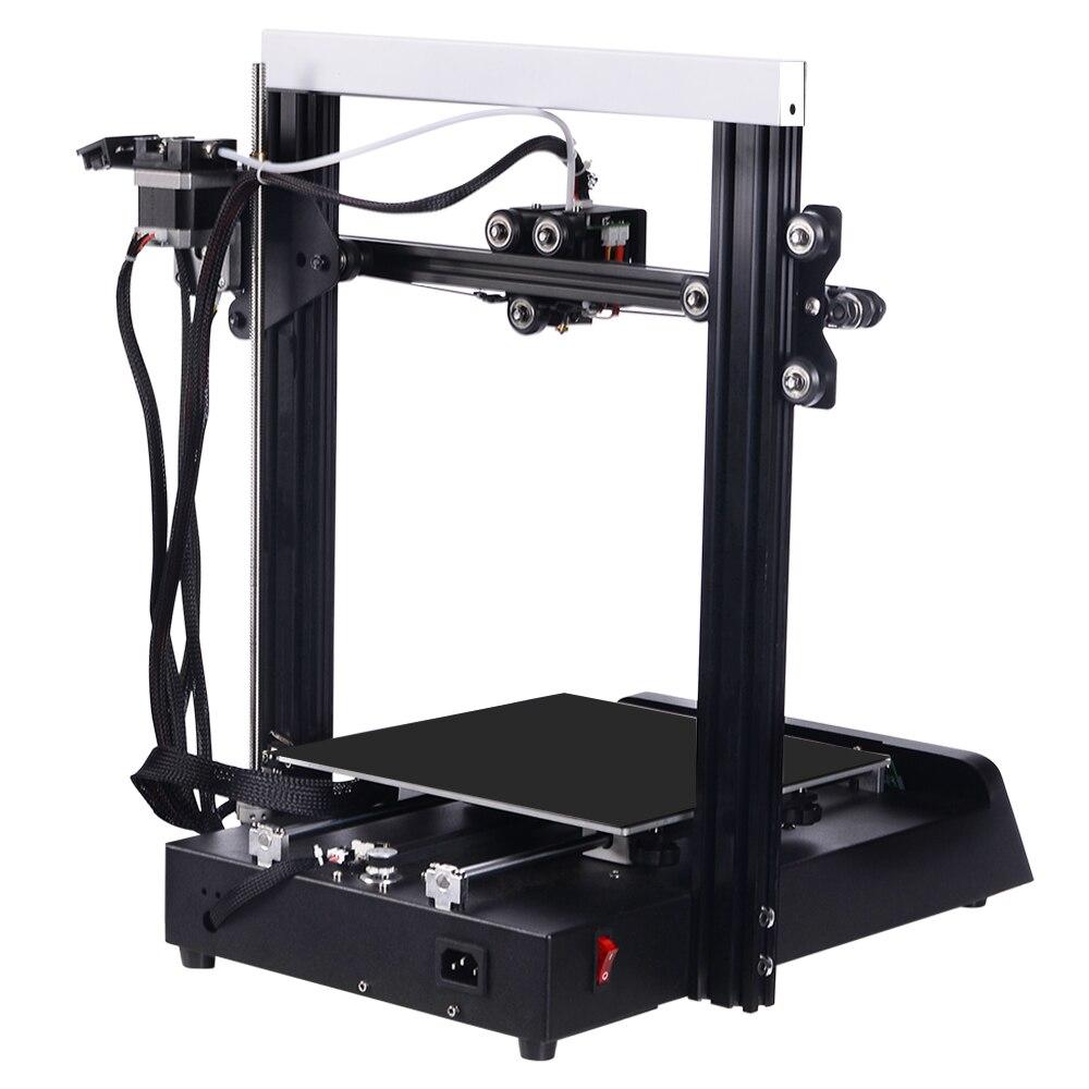 JGAURORA Magic 3D impresora de una sola boquilla LCD pantalla rota material de detección base de metal Semi DIY diseño rodamiento de bolas