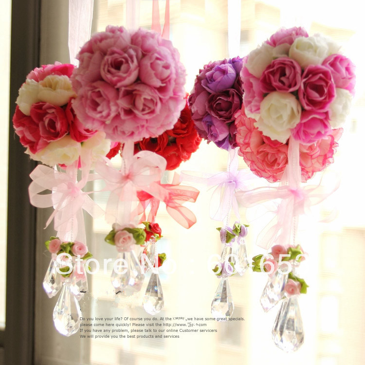 10piecelot Wedding Flower Ball Artificial Flower Rose Ball Silk