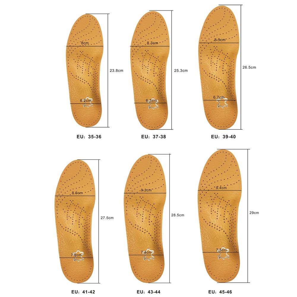 Orthèses en cuir de haute qualité semelle pour pied plat Arch - Accessoires pour chaussures - Photo 5