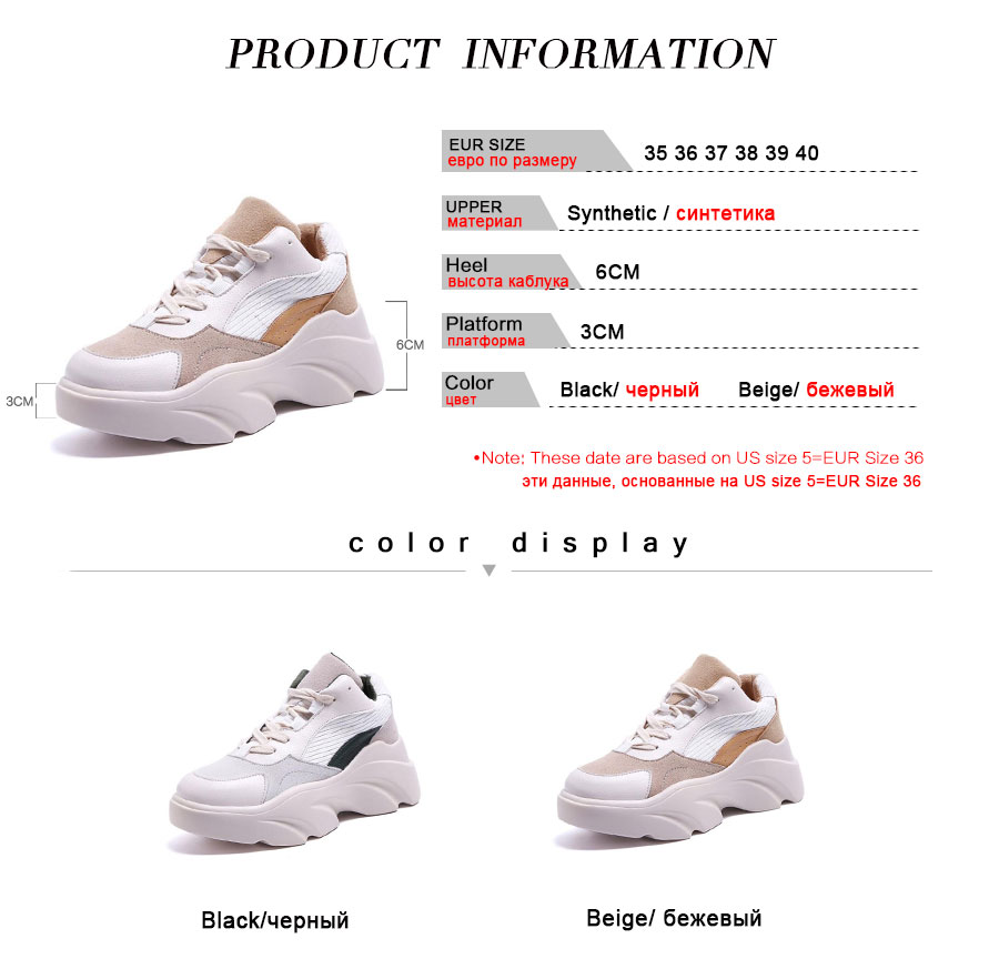 Coolcept Chunky Sneakers Women Thick Bottom Casual Platform Shoes Women Summer Outdoor Brand New Walking Footwear Size 35-40