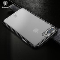 Baseus Multiple Materials Case For IPhone 7 Case Hybrid Luxury PC TPU TPE Back Cover For