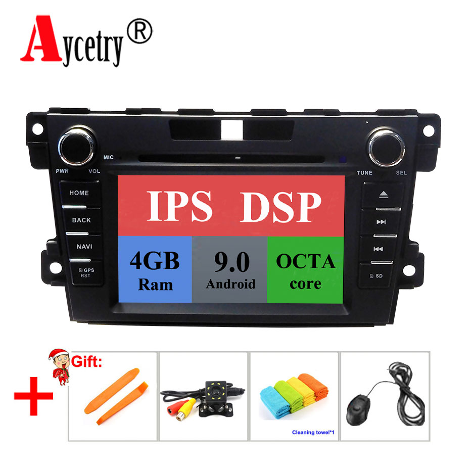 DSP IPS 2 Din car dvd multimedia player 8 core 4G Android 9 audio for mazda cx-7 CX 7 CX7 2008-2015 Car radio GPS Navigation fm
