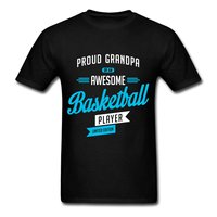 Grandpa Of Awesome Basketball Player Men S T Shirt T Shirt Men Funny Tee Shirts Short