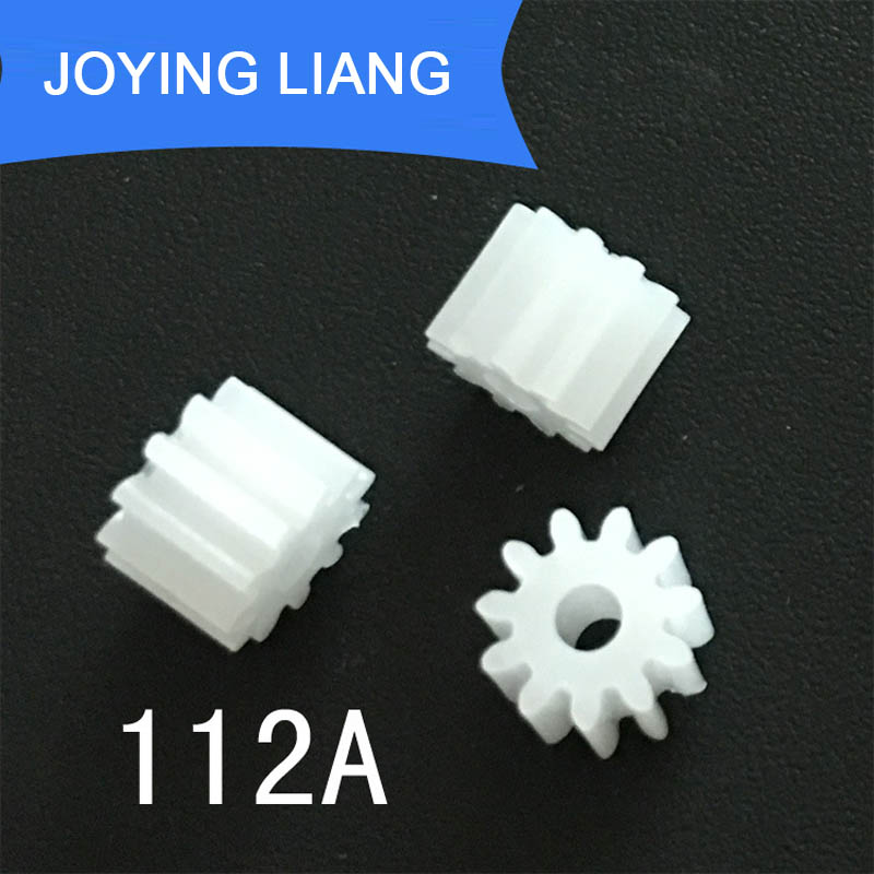 112A 0.5M Pinion Modulus 0.5 11 Teeth Plastic Gear Motor Fitting Toy Parts 10pcs/lot