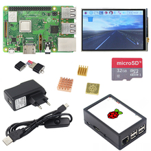 New  Raspberry Pi 3 Model B+ LCD Kit + 3.5 inch Touchscreen + Daul Use ABS Case + 16/32GB SD Card + Power Adapter + Heat sink