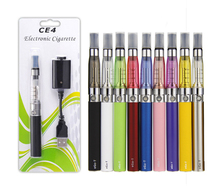 Great Quality eGo CE4 Blister Kits eGo-T Battery 650mah 900mAh 1100 mAh eGo Kits E Cigarette Kits Colorful CE4 Clearomizer