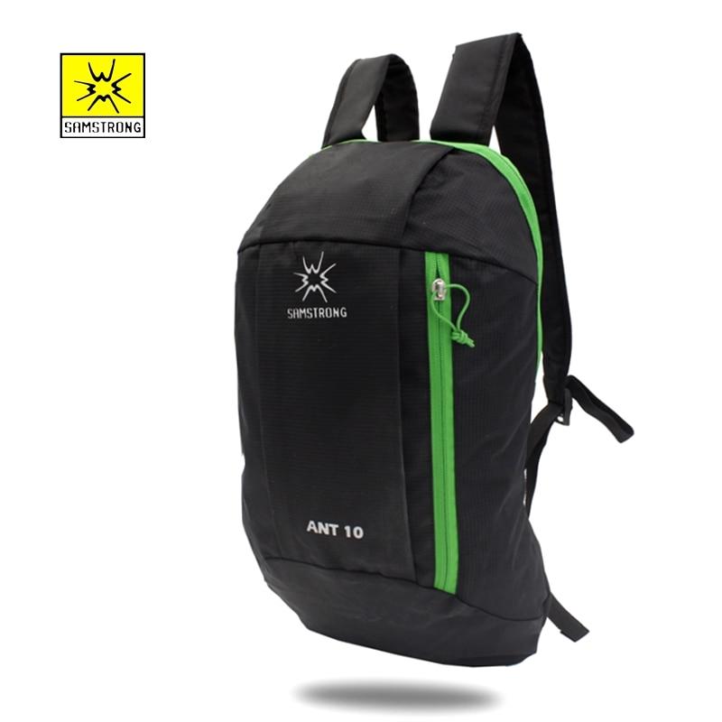 Samstrong 10L Boy Girls Sport Bags Hiking Camping Outdoor Travel Black Backpacks Women Men Waterproof Mountaineering Back Pack