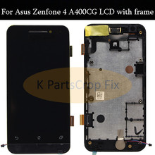 800*480 LCD Display Panel Screen Monitor Touch Screen Digitizer Glass Assembly with frame For Asus Zenfone 4 A400CG