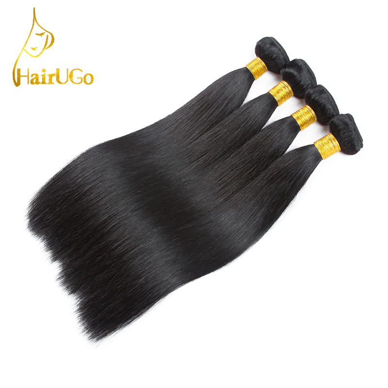 HairYour Pre-Colored Hair Mongolian Straight Weave 100% Human Hair - Menneskelig hår (for svart)