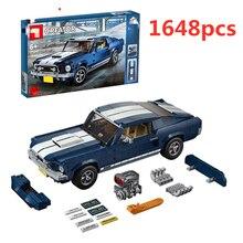 Newtoystechnic קלאסי 1967 מוסטנג GT רכב אבני בניין ערכת לבני דגם צעצועי Compatibtoyscar