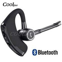 COOLJIER V8S עסקים Bluetooth אוזניות רכב דיבורית אלחוטי bluetooth אוזניות עם מיקרופון עבור iPhone Xiaomi סמסונג