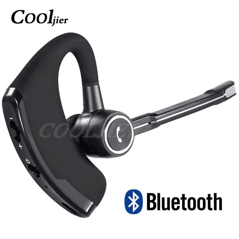 Cooljier V8s Business Bluetooth Headset Car Bluetooth Handsfree Wireless Bluetooth Earphone With Mic For Iphone Xiaomi Samsung Bluetooth Earphones Headphones Aliexpress
